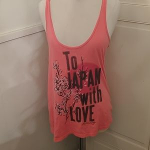 Billabong To Japan with Love Pink tank top Medium